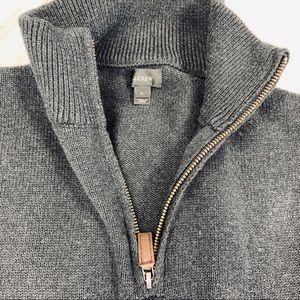J. Crew Sweaters - EUC J. Crew Cotton Cashmere 1/2 Zip Sweater DG L